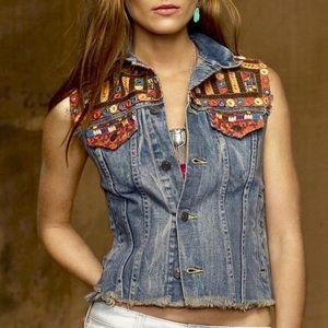 Denim & Supply Ralph Lauren Jean Vest Embellished